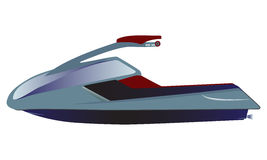 Water scooter, sporty small Jet Ski Royalty Free Stock Images