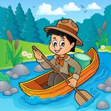 Water scout boy theme image 2 Royalty Free Stock Photos