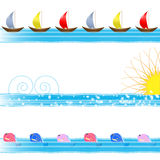 Water sea border Royalty Free Stock Images