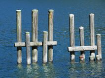 Water, Sea, Fixed Link, Wood royalty free stock image