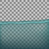 Water, sea, ocean with transparency on transparent background. Royalty Free Stock Photo