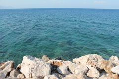 Magical sea view panorama in Turkey Stock Photo