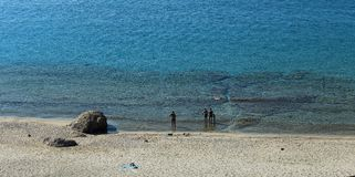 Water. Sea water at the shore of the island Thassos Royalty Free Stock Photos