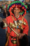 Water seller in the Jemaa el-Fnaa square, Marrakesh, Morocco Stock Photography