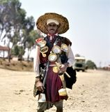 Water seller in traditional clothing stock photography