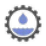 Water Service Halftone Dotted Icon vector illustration