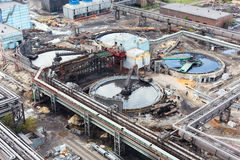 Water sewage station under construction royalty free stock photo