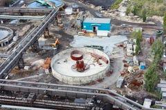 Water sewage station under construction royalty free stock image