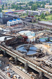 Water sewage station under construction Stock Photos