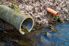 Water sewer Sewerage Royalty Free Stock Photography
