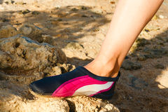 Water shoe Royalty Free Stock Photo