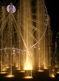 Water Show. A water display that is part of the scene of Qanat al Qasba, in Sharja, UAE Royalty Free Stock Photography