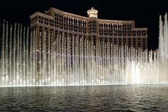 Ballagio Hotel and Casino. Water show in front of Bellagio Resort in Las Vegas, Nevada royalty free stock images