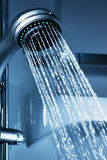 Water from the shower Royalty Free Stock Image