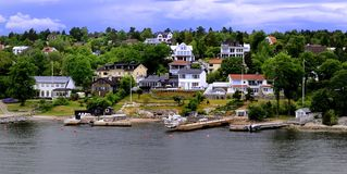 Water side houses Royalty Free Stock Photo