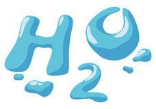 Water sign. H2O vector illustration Stock Photos