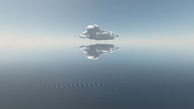 Water with single cloud Stock Photos