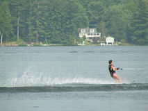 Water Ski. Man water skiing on lake Royalty Free Stock Photos