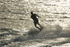 Water ski. At sunset Stock Image