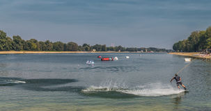 Water ski. Ada lake, Belgrade Serbia Royalty Free Stock Photos