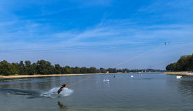 Water ski. Ada lake, Belgrade Serbia Stock Photos