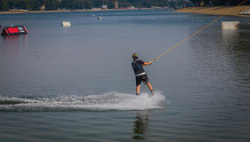 Water ski. Ada lake, Belgrade Serbia Royalty Free Stock Image