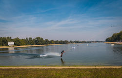 Water ski. Ada lake, Belgrade Serbia Stock Photo