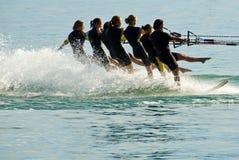 Water ski ballet Royalty Free Stock Image
