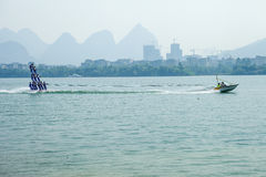 Water ski competition,Liuzhou,2013 Royalty Free Stock Image