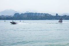 Water ski competition,Liuzhou,2013 Stock Photo