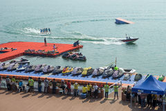 Water ski competition,Liuzhou,2013 Royalty Free Stock Photography