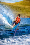 Water Ski Male. A male waterskiing on a lake Stock Images