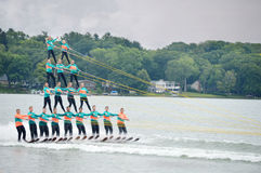 Water Ski Pyramid Royalty Free Stock Photos