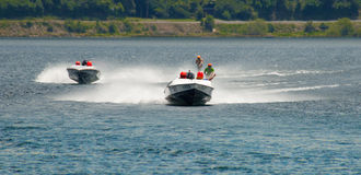 Water Ski Racing Stock Image