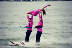 Water Ski Trio Royalty Free Stock Photo