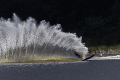 Water-Ski Wake Spray Contrasts Royalty Free Stock Photography