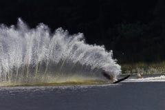 Water-Ski Wake Spray Contrasts royalty free stock photography