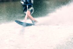 Water ski water. Splash drops Stock Image
