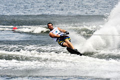 Water Ski World Cup 2008 In Action: Man Slalom Stock Photography