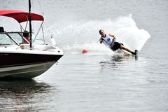 Water Ski World Cup 2008 In Action: Woman Slalom Royalty Free Stock Photos