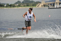 Water Ski World Cup 2008: Woman Shortboard Tricks Stock Photography