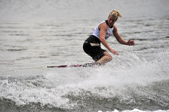 Water Ski World Cup 2008: Woman Shortboard Tricks Royalty Free Stock Photos