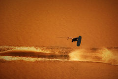 Water skier jumping Royalty Free Stock Photos