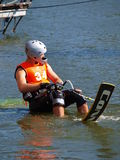 Water skier, Lublin, Poland Stock Photo