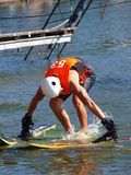 Water skier, Lublin, Poland Stock Images