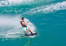 Water-skier. View of the water-skier Royalty Free Stock Image