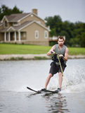 Water Skiing. Fun water-skiing on a lake Royalty Free Stock Photography