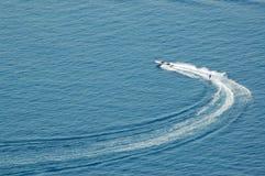 Water skiing. Ocean, Dubrovnik, Croatia Stock Photos