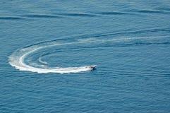 Water skiing. Ocean, Dubrovnik, Croatia Stock Images