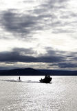 Water Skiing 2. Water Skiing on Lake Taupo, New Zealand Royalty Free Stock Image